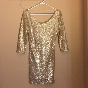 Never been worn gold dress!